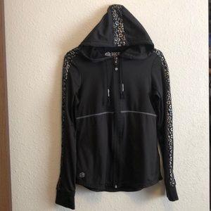 BKE Sport Black Zip Hoodie Jacket & silver bling